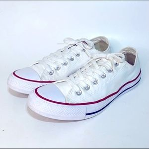 Converse Low Top White Canvas Sneaker Size 8